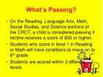 what s passing