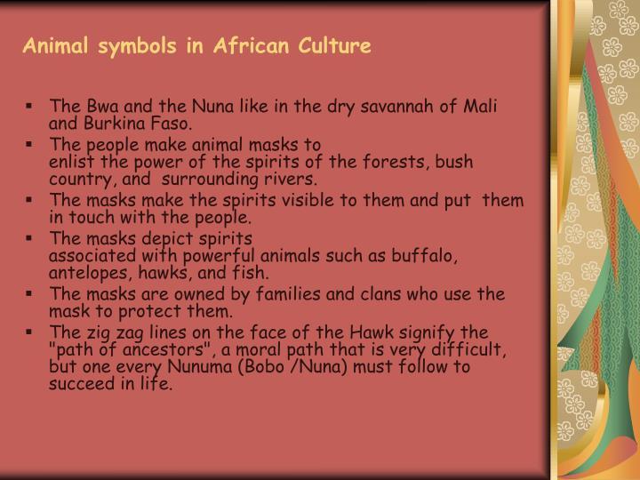 Animal symbols in African Culture