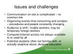 issues and challenges