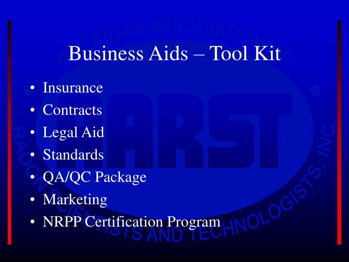 Business Aids – Tool Kit