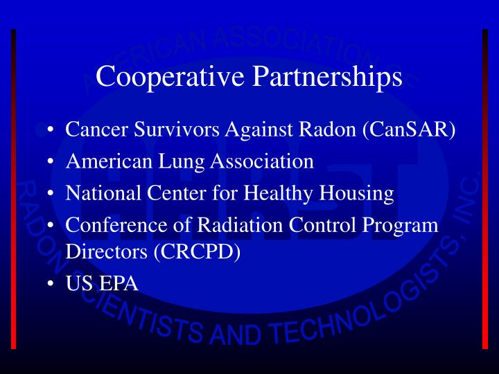 Cooperative Partnerships