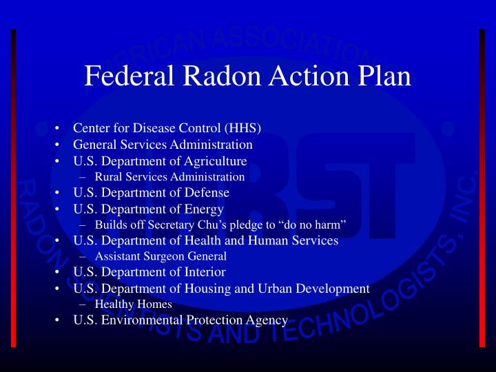 Federal Radon Action Plan