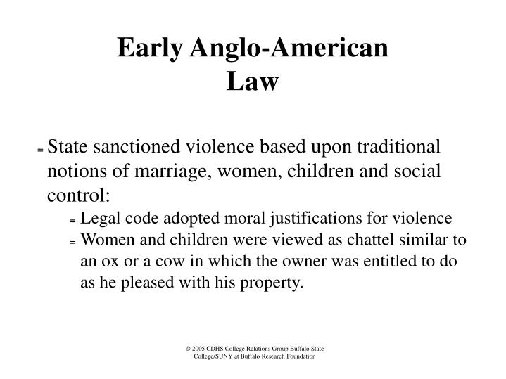 Early Anglo-American