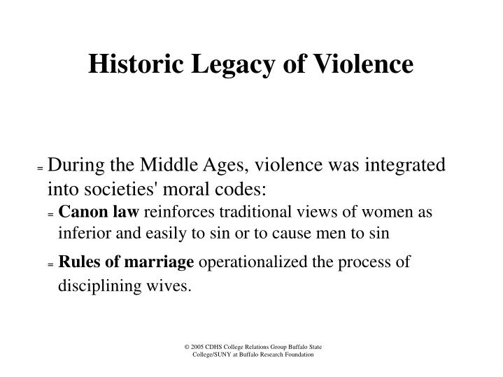 Historic Legacy of Violence