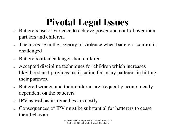 Pivotal Legal Issues