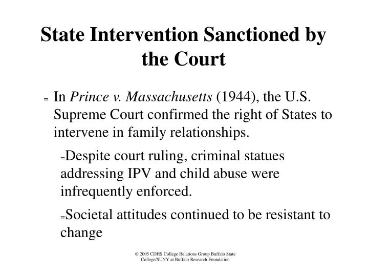 State Intervention Sanctioned by the Court