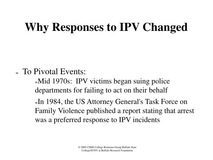 Why Responses to IPV Changed