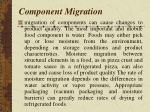 component migration
