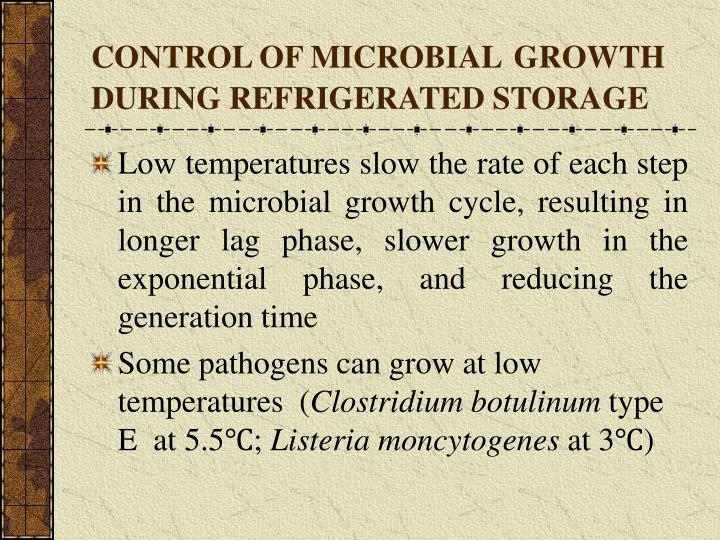 CONTROL OF MICROBIAL