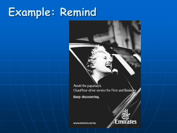 Example: Remind