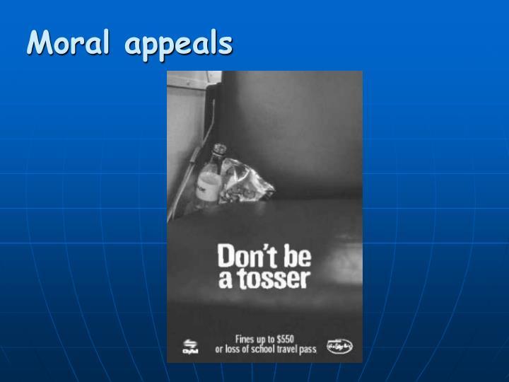 Moral appeals