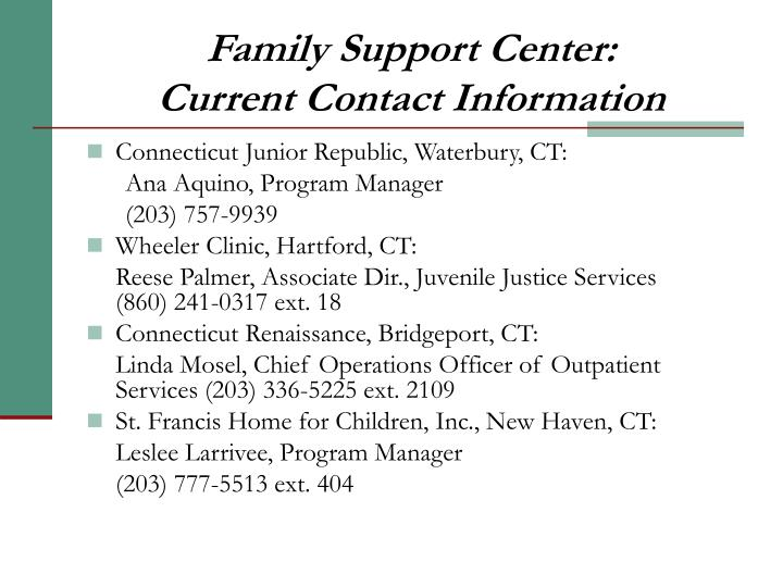 Family Support Center: