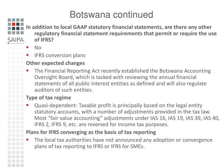Botswana continued