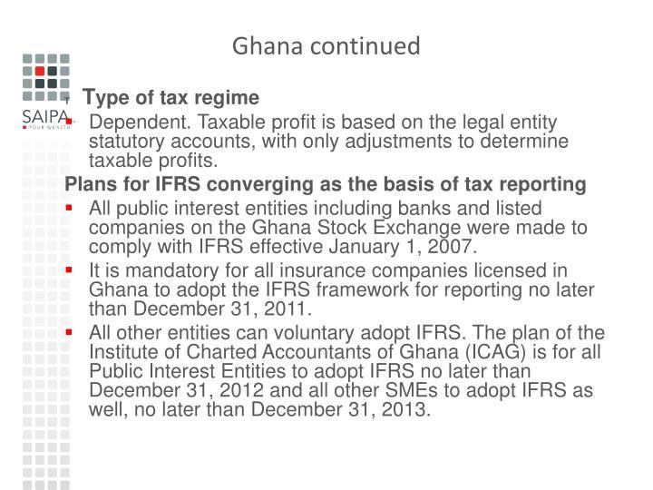 Ghana continued