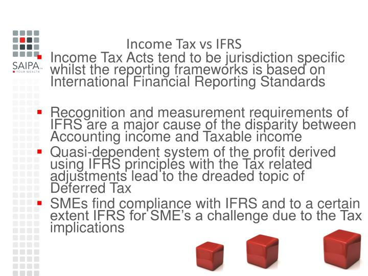 Income tax vs ifrs