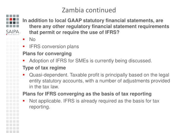 Zambia continued