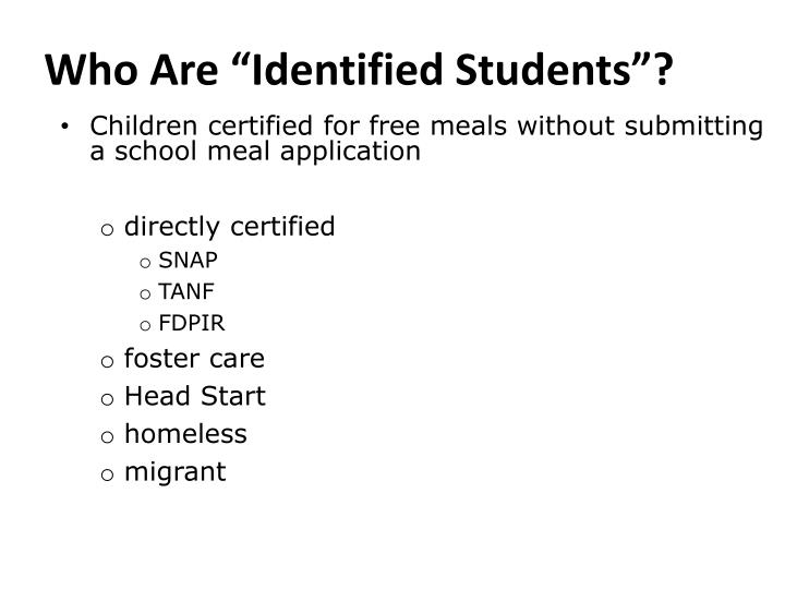 "Who Are ""Identified Students""?"