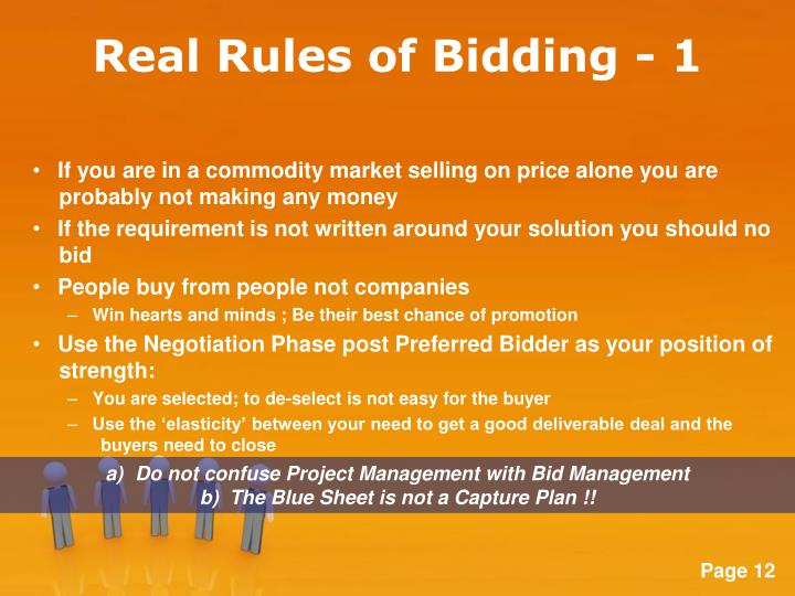 Real Rules of Bidding - 1