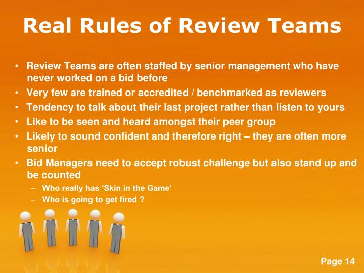 Real Rules of Review Teams