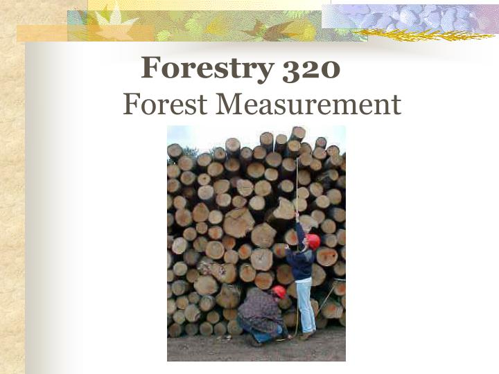 Forestry 320