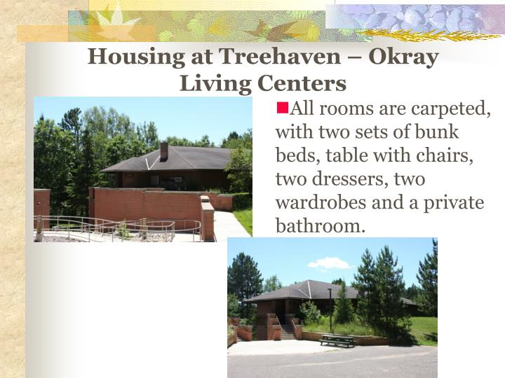 Housing at Treehaven