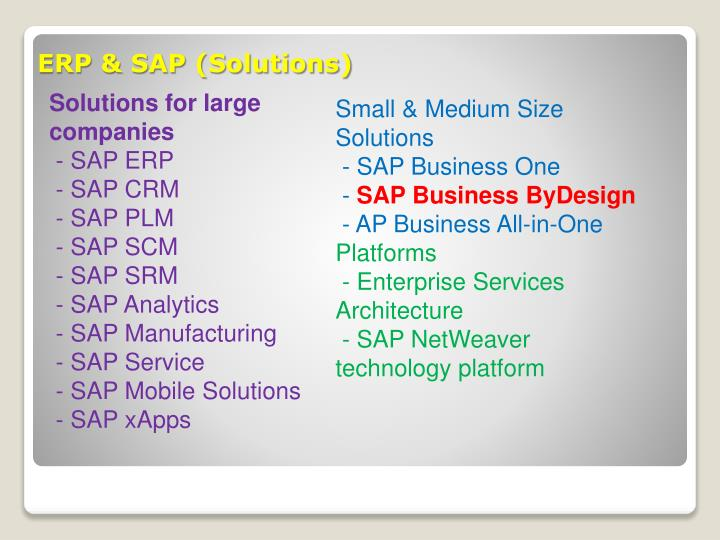 ERP & SAP (Solutions)