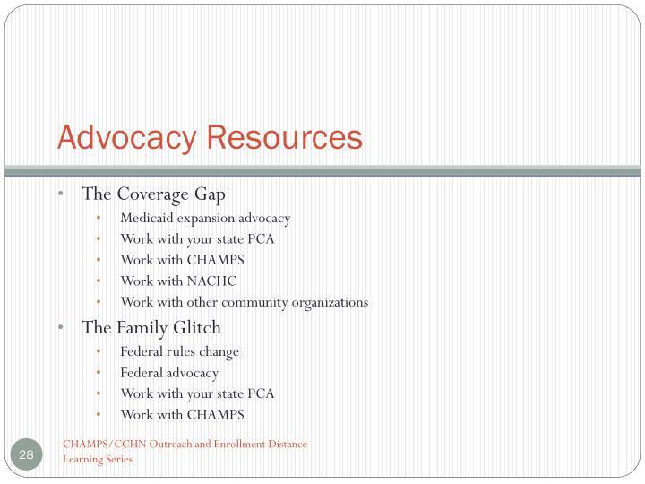 Advocacy Resources