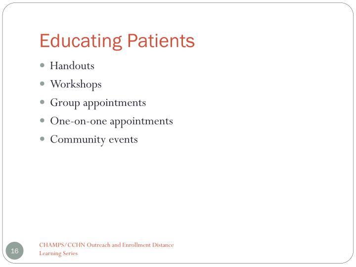 Educating Patients