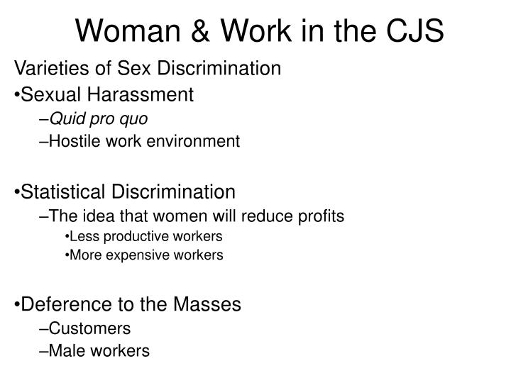 Woman & Work in the CJS
