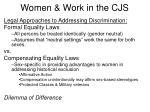 women work in the cjs
