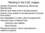 working in the cjs judges