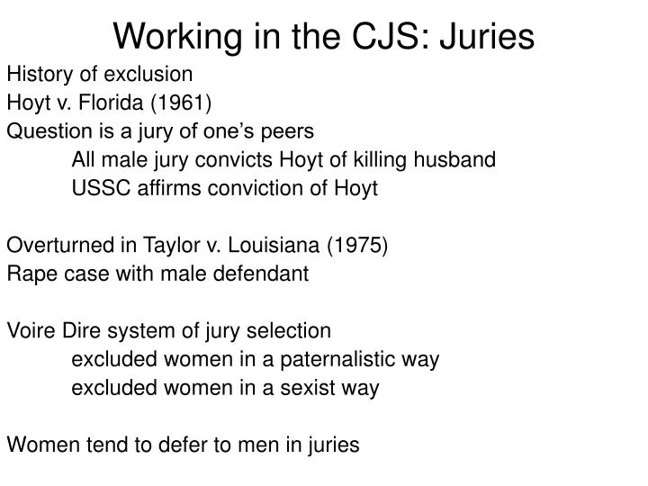 Working in the CJS: Juries