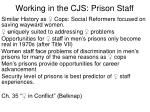 working in the cjs prison staff
