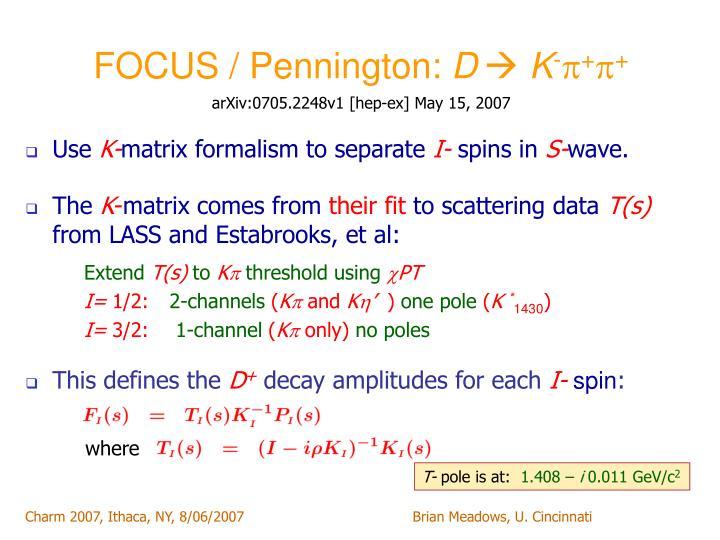 FOCUS / Pennington: