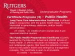 certificate programs 5 public health