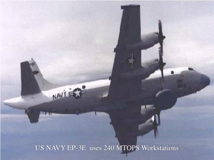 US NAVY EP-3E  uses 240 MTOPS Workstations