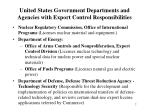 united states government departments and agencies with export control responsibilities2