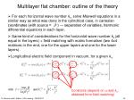 multilayer flat chamber outline of the theory