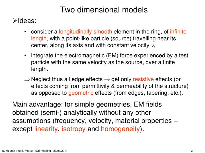 Two dimensional models