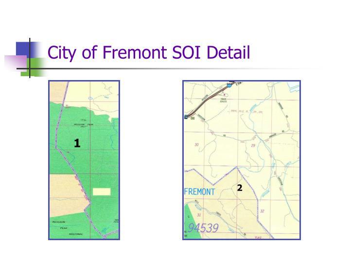 City of Fremont SOI Detail