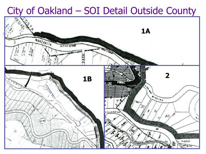 City of Oakland – SOI Detail Outside County