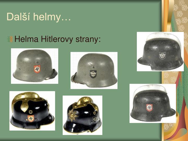 Další helmy…