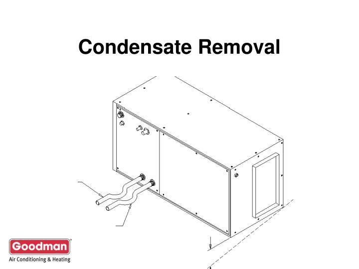 Condensate Removal