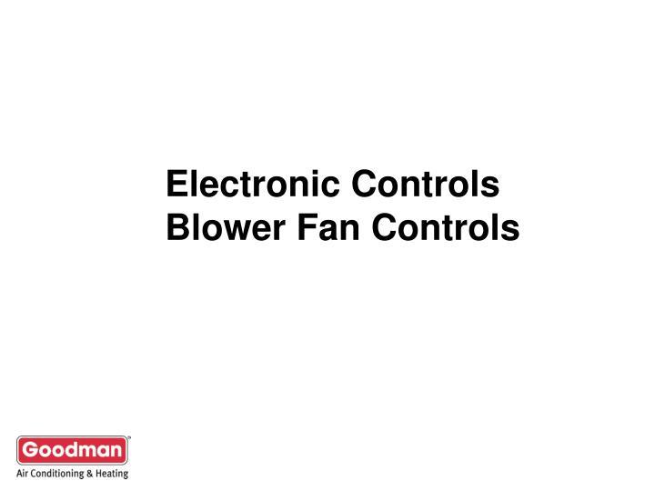 Electronic Controls