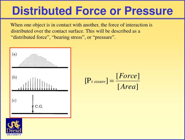 Distributed Force or Pressure