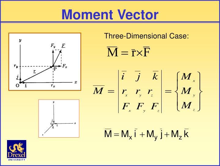 Moment Vector