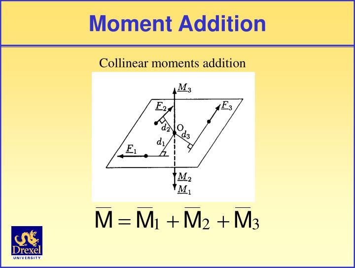 Moment Addition