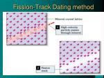 fission track dating method