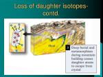 loss of daughter isotopes contd1