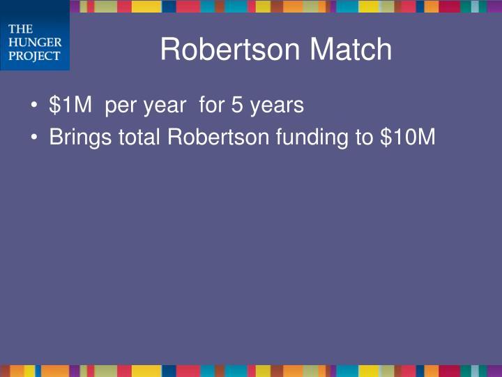 Robertson Match